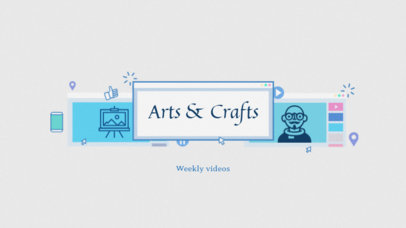 Youtube Banner Template for Craft Channels 51d