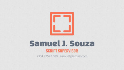 Unique Business Card Maker for Script Supervisors 207e