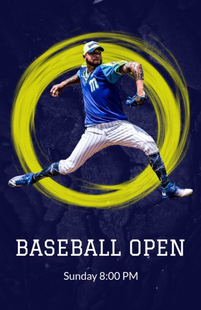 Baseball Season Flyer Template with Realistic Graphics 171c
