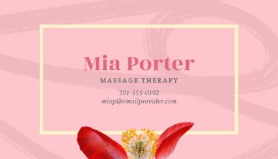 Business Card Maker for  Spa Resort with Tropical Plants 150d