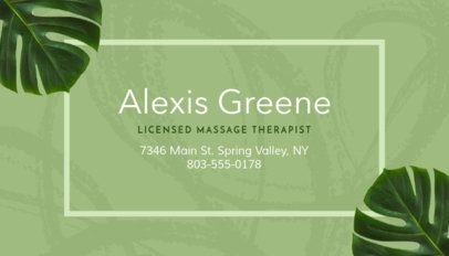 Business Card Maker for Relaxing Spas with Tropical Flowers Images 150e