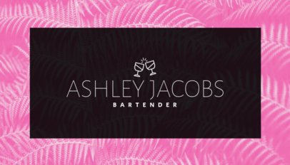 Minimalist Bartender Business Card Maker 168a