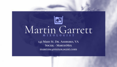 Business Card Maker for Mixologists 168b