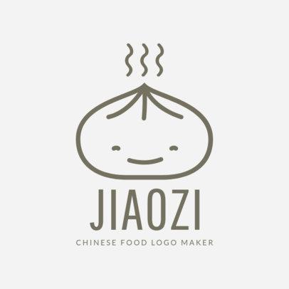 Chinese Restaurant Logo Maker with Dumpling Drawing 1214e
