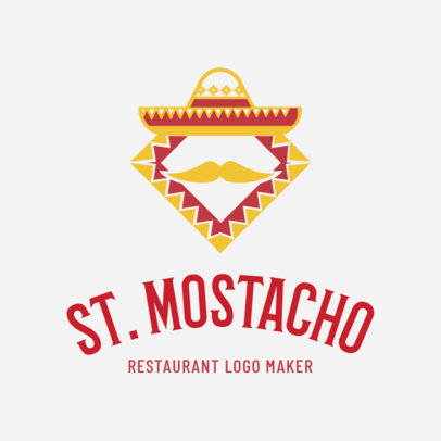 Mexican Restaurant Logo Maker with Sombrero Icon 1195f