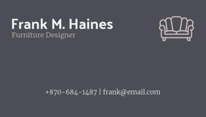 Business Card Maker for Furniture Designers 178c