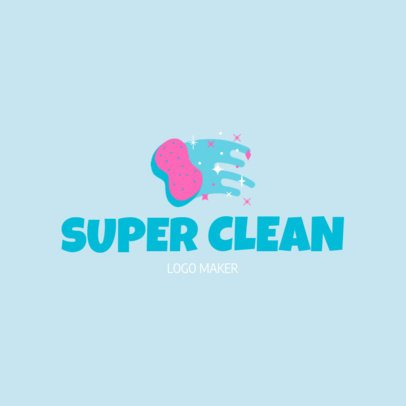 Custom Logo Maker for Janitorial Services with Sponge Icon 1173c