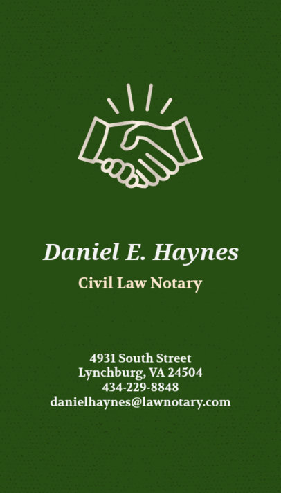 Attorney Business Card Maker with Vertical Layout 69d