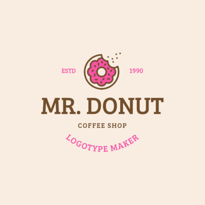 Donut Shop Logo Maker 1232b
