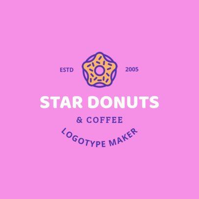 Logo Maker for Doughnut Shops 1232c