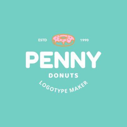 Donut Bar Logo Maker for Donut Shops 1232e