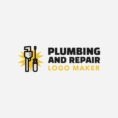 Online Logo Maker for a Plumbing Company with Wrench Clipart with Tools Clipart 1167c