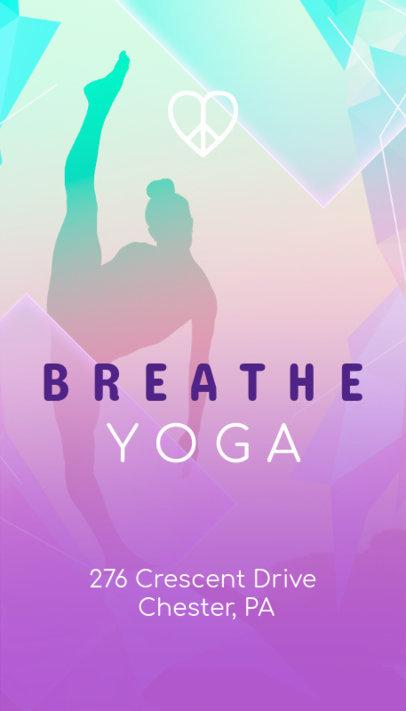 Online Business Card Maker for Yoga Studios 154b