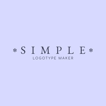 Simple Logo Maker for a Clothing Brand with Asterisk Icons 1066a