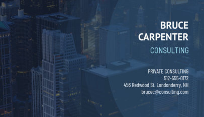 Business Card Maker for Financial Consultants 148b