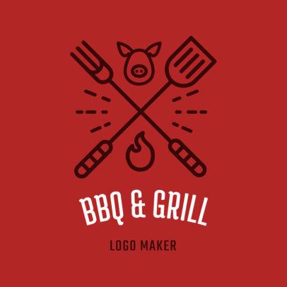 Restaurant Logo Maker with BBQ Clipart 1171b
