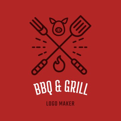 Restaurant Logo Maker with BBQ Clipart 1171b