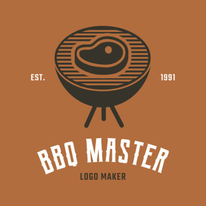 BBQ Logo Maker with Grill Clipart 1171e