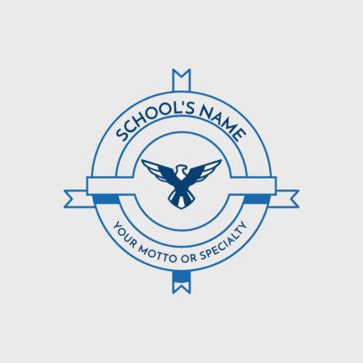 School Logo Maker with Geometric Graphics 1088a