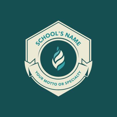 School Logo Maker with Lightbulb Icon 1088c