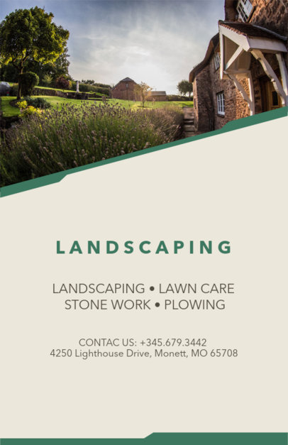 Flyer Template To Design A Landscaping
