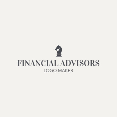 Online Logo Maker for a Financial Advisor with Horse Icon 1160d