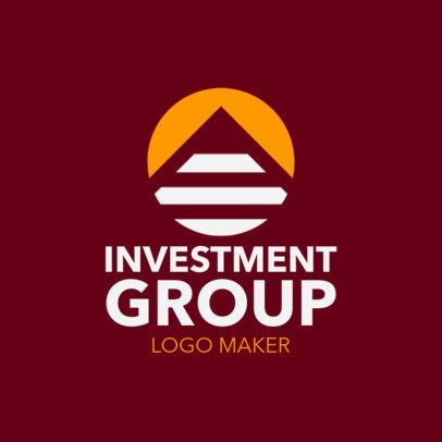 Logo Template for an Investment Company Featuring a Pyramid Clipart 1160f