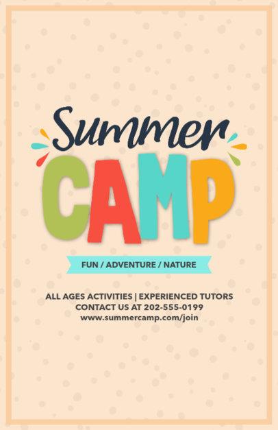 Online Flyer Maker for Summer Camp Designs 196e