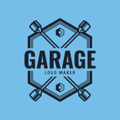 Logo Maker for an Auto Garage with Cross Wrench Icon 1165e
