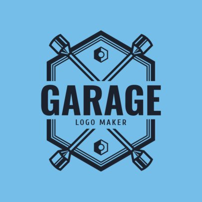 Placeit Logo Maker For An Auto Garage With Cross Wrench Icon