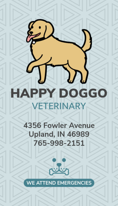 Pet Care Business Card Maker 184e