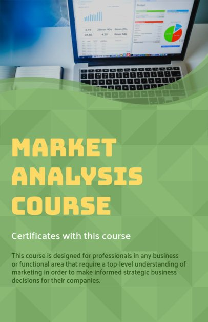 Online Flyer Maker for a Market Analysis Course 149a
