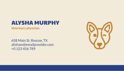 Veterinarian Business Card Maker 187d
