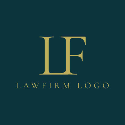 Attorney Logo Maker for Monogram Logos 1096d