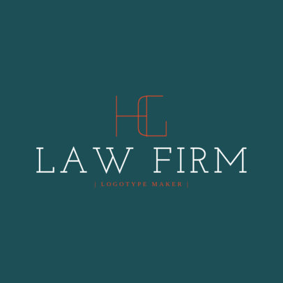 Legal Services Logo Maker for Monograms 1096e