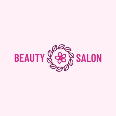 Logo Maker for a Beauty Salon with Floral Icons 1150a