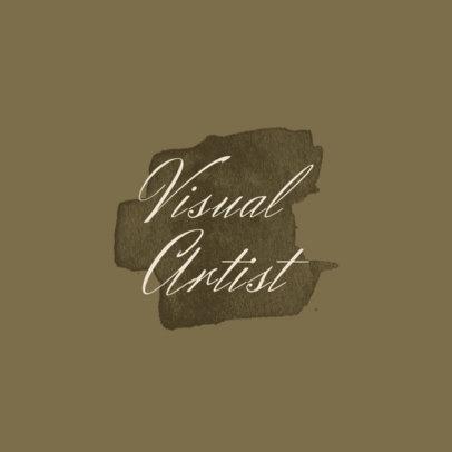 Monochromatic Logo Template for Visual Artists 1187b