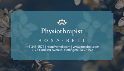 Physical Therapist Business Card Maker 195d-1903