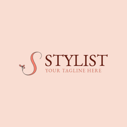 Stylist Logo Maker with Floral Graphics 1138a