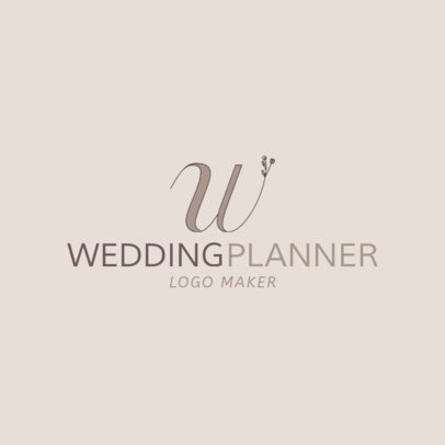 Wedding Planner Logo Maker with Floral Fonts 1138b