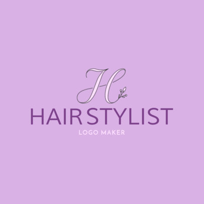 Hairstylist Logo Maker with Floral Fonts 1138d