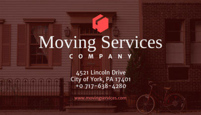 Online Business Card Maker for Moving Services 202b