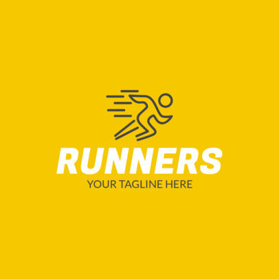 Online Logo Maker for a Running Club with Running Icon 1080a