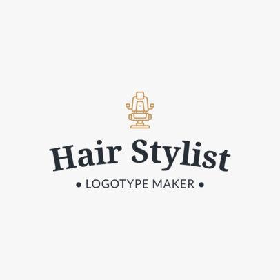 Hair Stylist Logo Maker 1119f
