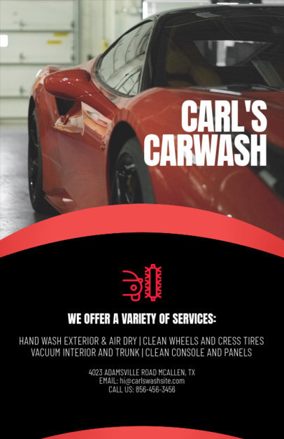 Flyer Maker for Car Wash Business with Car Icons 188a