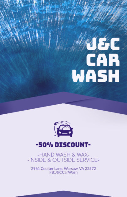 Online Flyer Maker for Car Wash Services with Special Discounts 188c