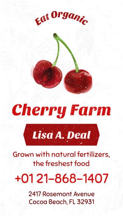 Business Card Maker for Organic Farming 199d