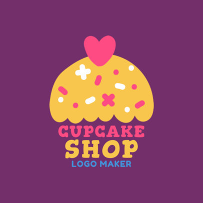 Cartoon Logo Maker for Cupcake Shops 1131c