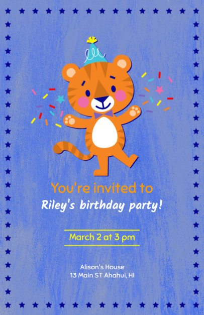 Online Flyer Maker for Children's Birthday Party 223a