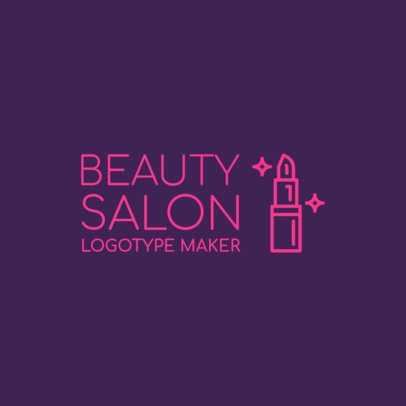 Logo Maker for a Beauty Salon with Lipstick Icon 1137b